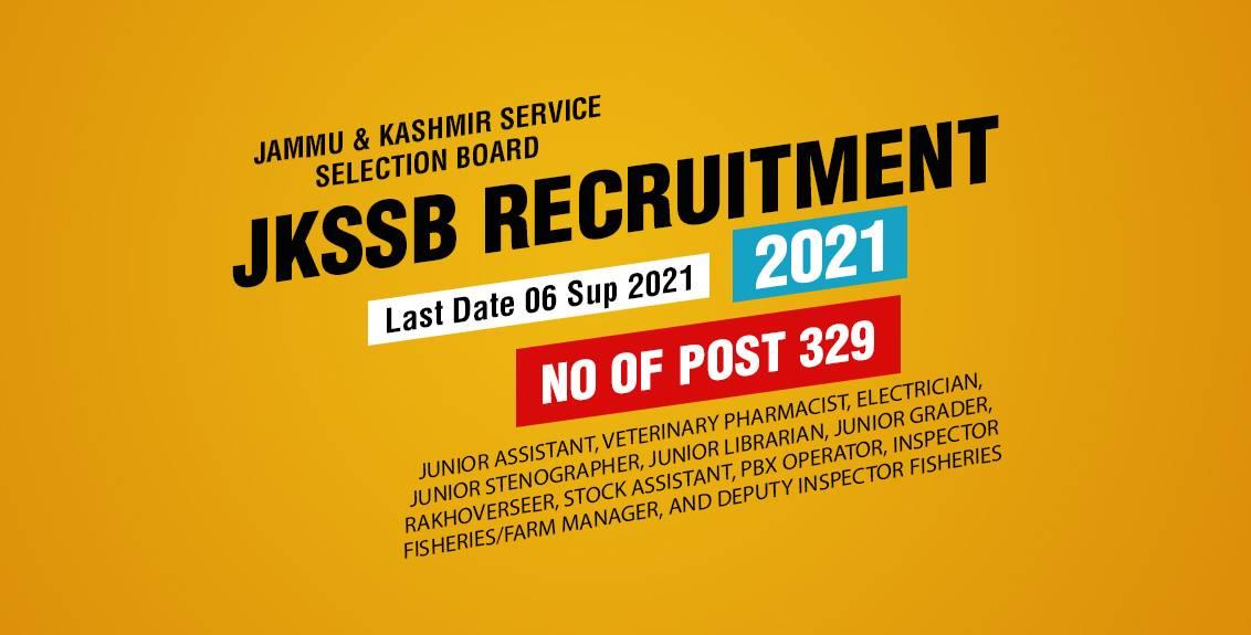 JKSSB Animal Husbandry Recruitment 2021 Job Listing thumbnail.
