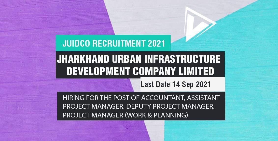 JUIDCO Recruitment 2021 Job Listing thumbnail.