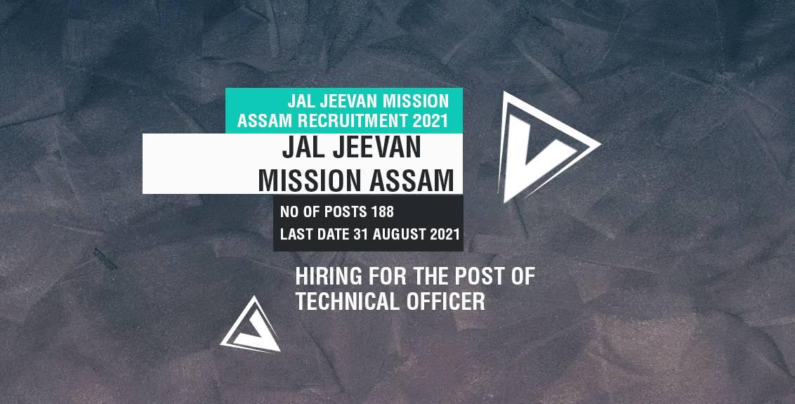 Jal Jeevan Mission Assam Recruitment 2021 Job Listing Thumbnail.