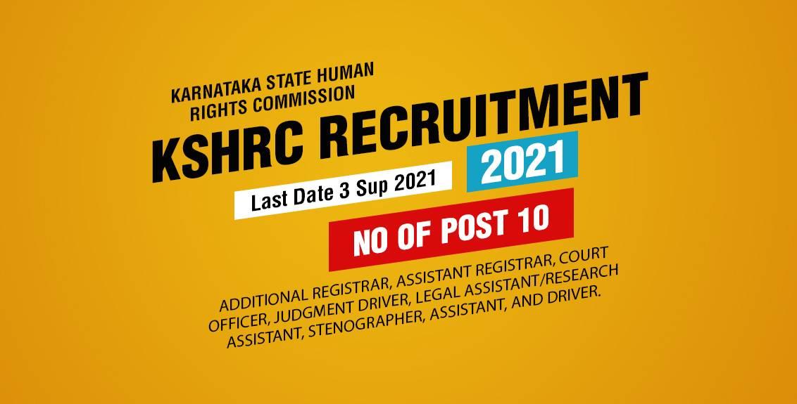 KSHRC Recruitment 2021 Job Listing thumbnail.