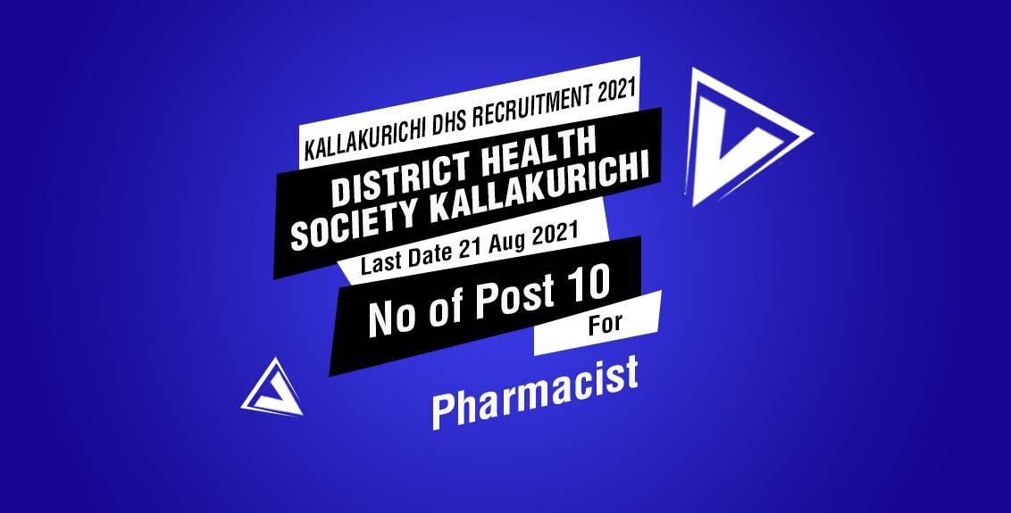 Kallakurichi DHS Recruitment 2021 Job Listing Thumbnail.