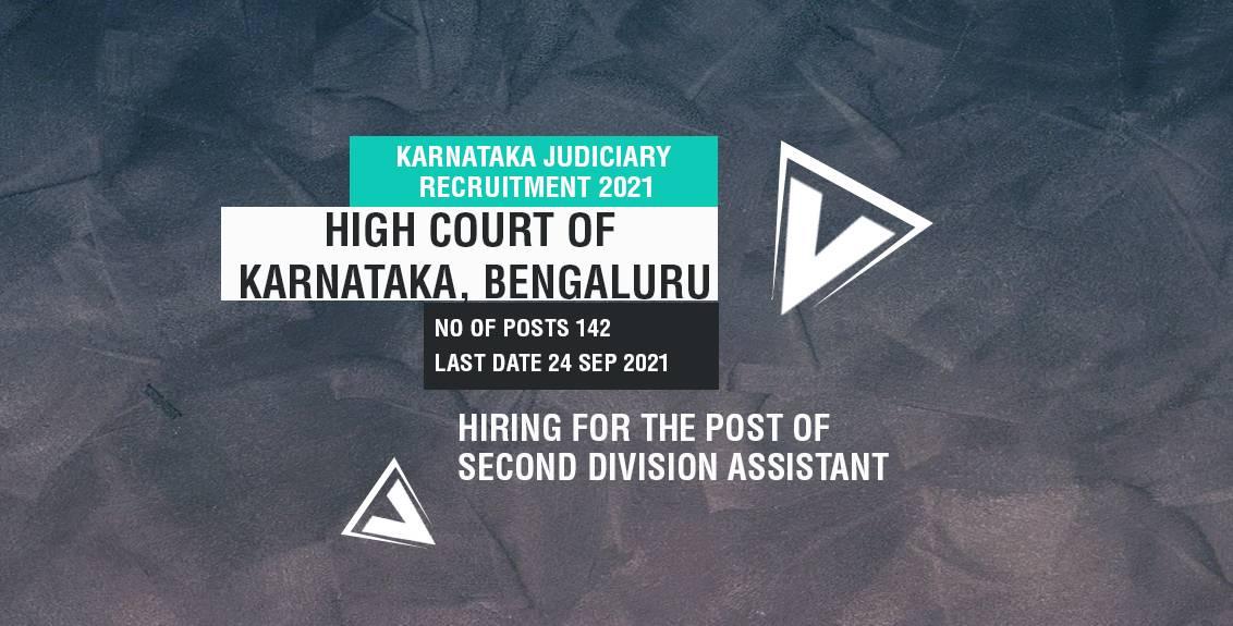Karnataka Judiciary Recruitment 2021 Job Listing thumbnail.