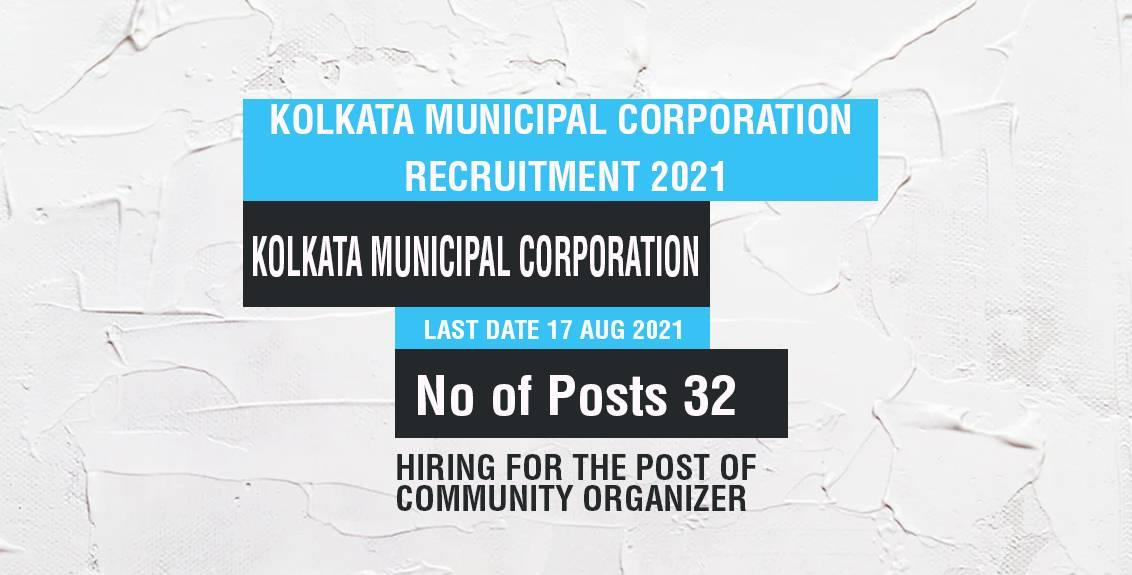 Kolkata Municipal Corporation Recruitment 2021 Job Listing thumbnail.