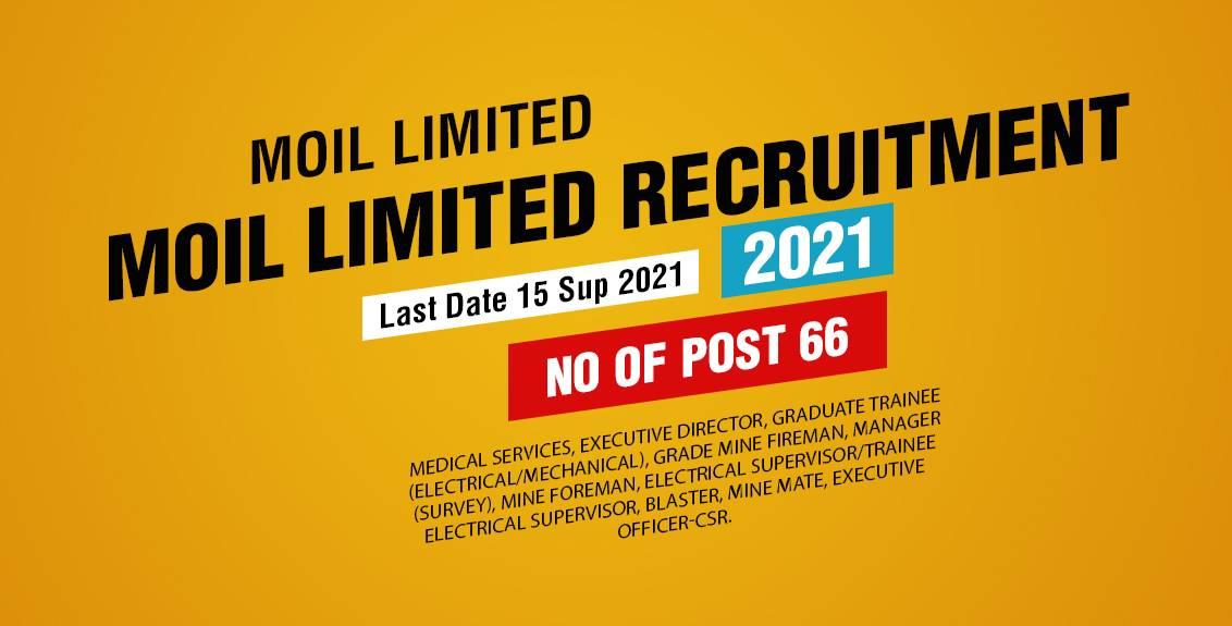 MOIL Limited Recruitment 2021 Job Listing thumbnail.