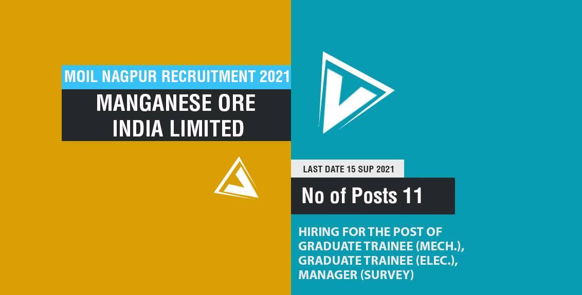 MOIL Nagpur Recruitment 2021 Job Listing thumbnail.