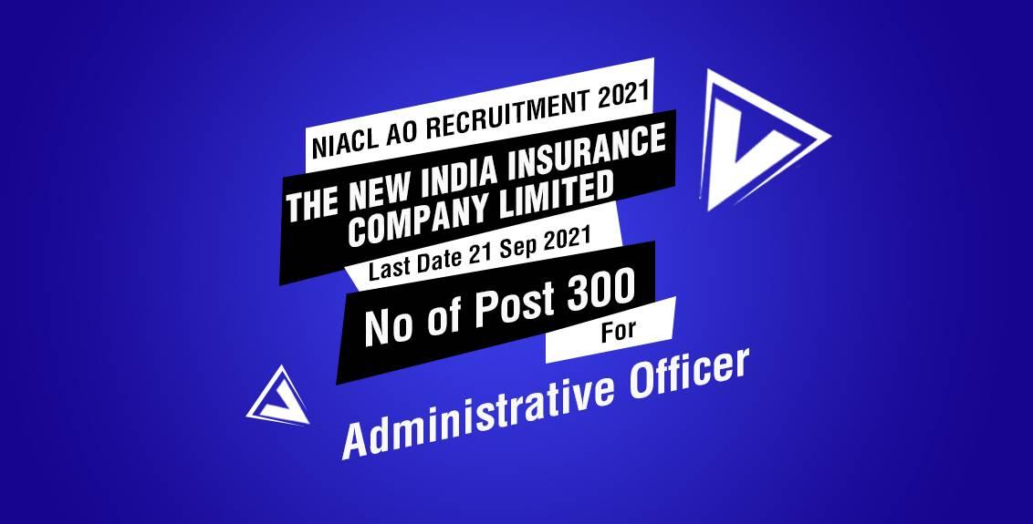 NIACL AO Recruitment 2021 Job Listing thumbnail.
