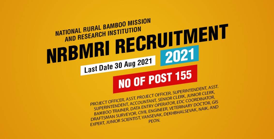 NRBMRI Recruitment 2021 Job Listing thumbnail.