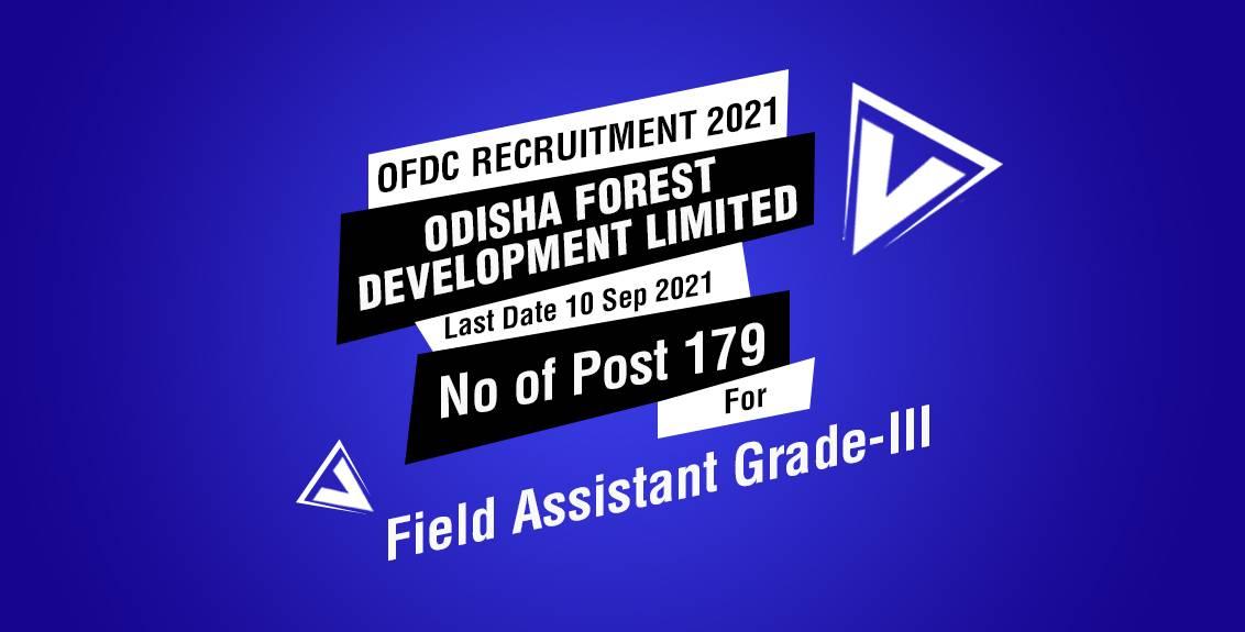 OFDC Recruitment 2021 Job listing thumbnail.