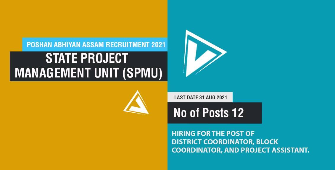 Poshan Abhiyan Assam Recruitment 2021 Job Listing Thumbnail.
