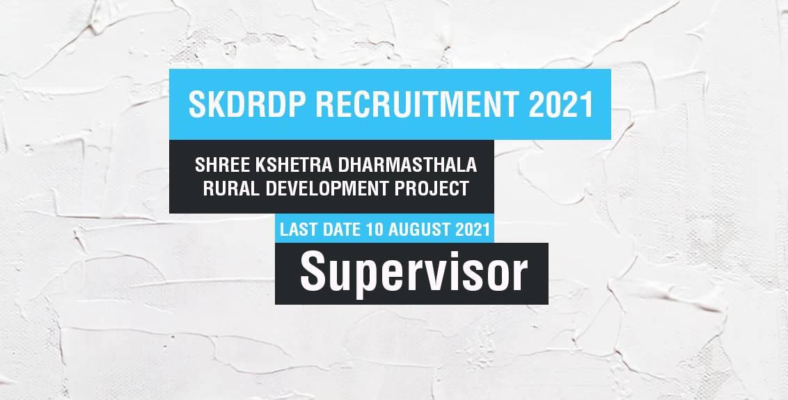 SKDRDP Recruitment 2021 Job Listing thumbnail.