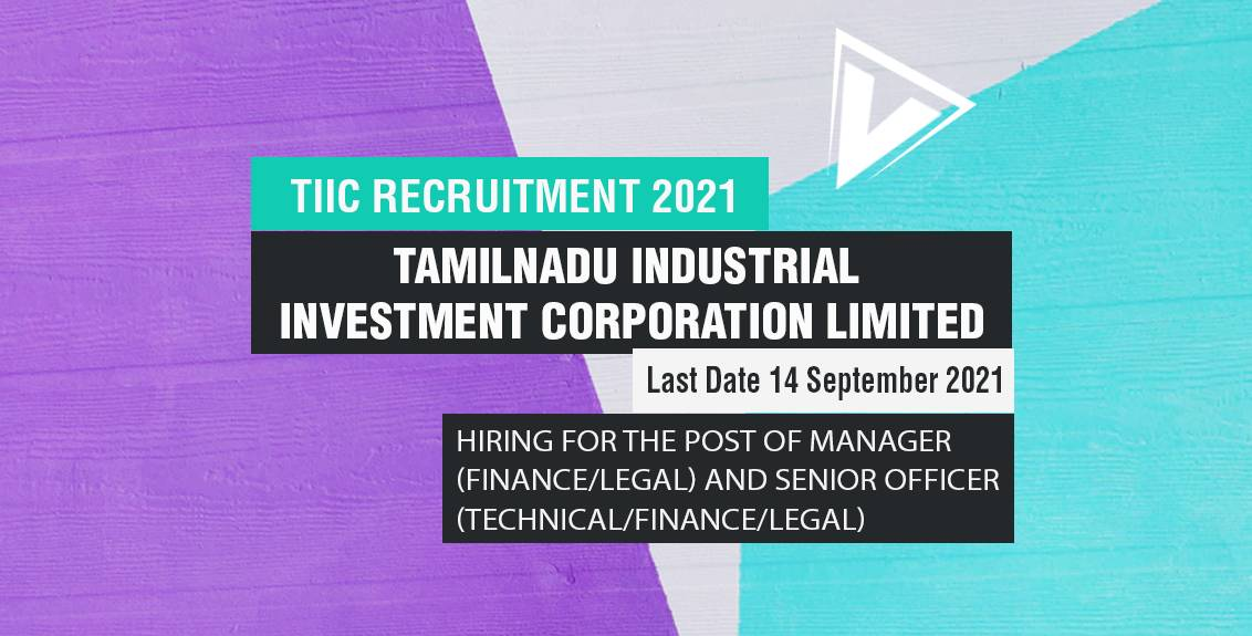 TIIC Recruitment 2021 Job Listing Thumbnail.
