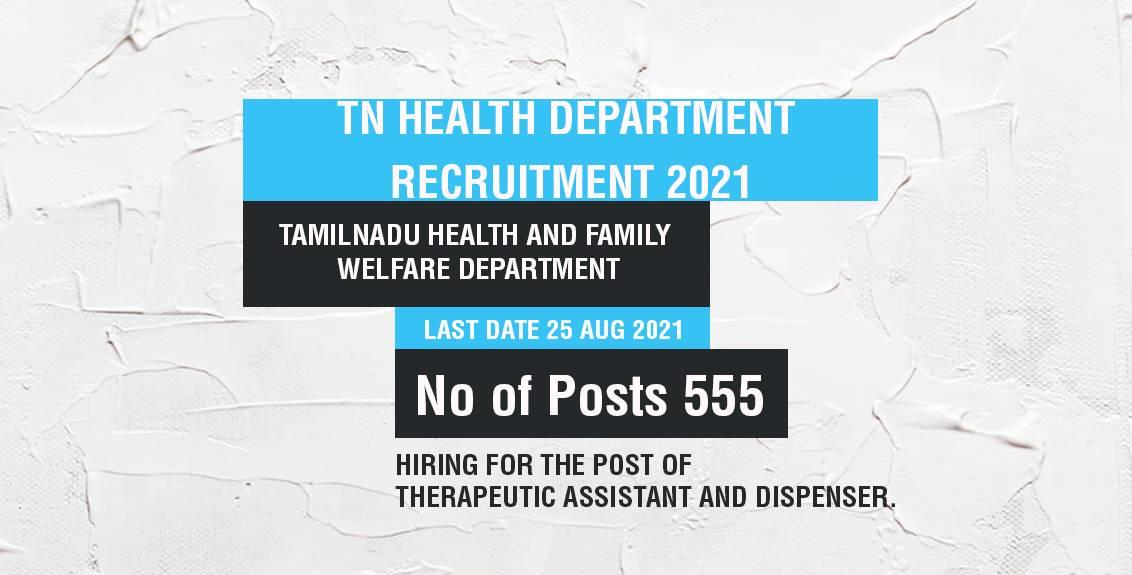 TN Health Department Recruitment 2021 Job Listing thumbnail.