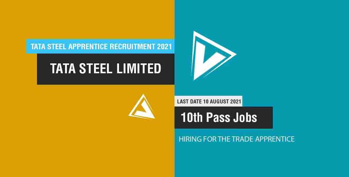 Tata Steel Apprentice Recruitment 2021 Job Listing Thumbnail.