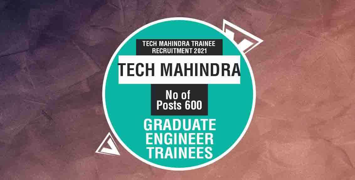Tech Mahindra Trainee Recruitment 2021 Job Listing thumbnail.