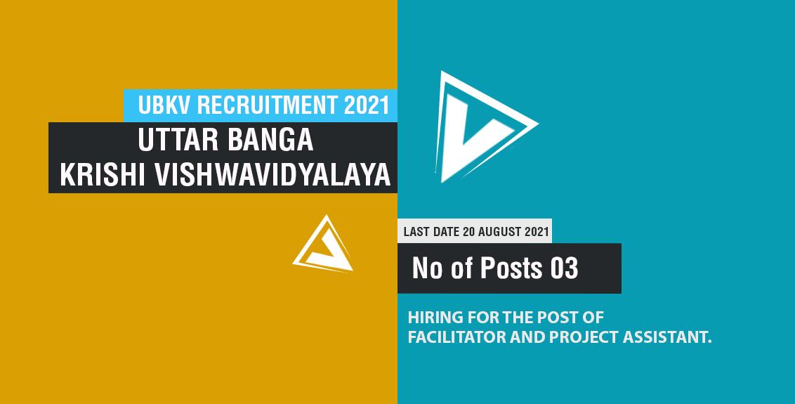 UBKV Recruitment 2021 Job Listing thumbnail.