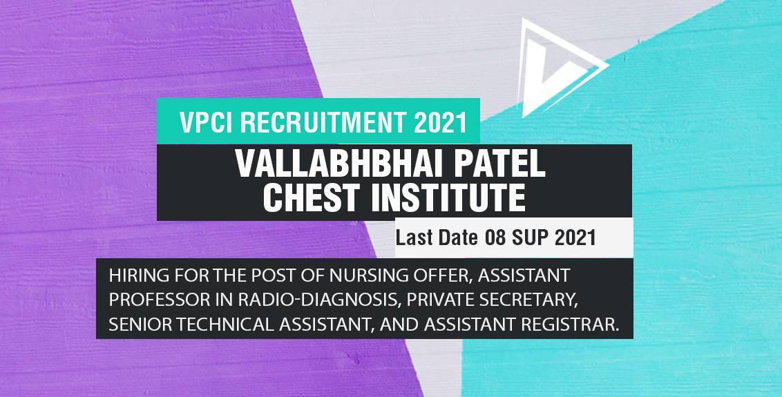VPCI Recruitment 2021 Job Listing Thumbnail.