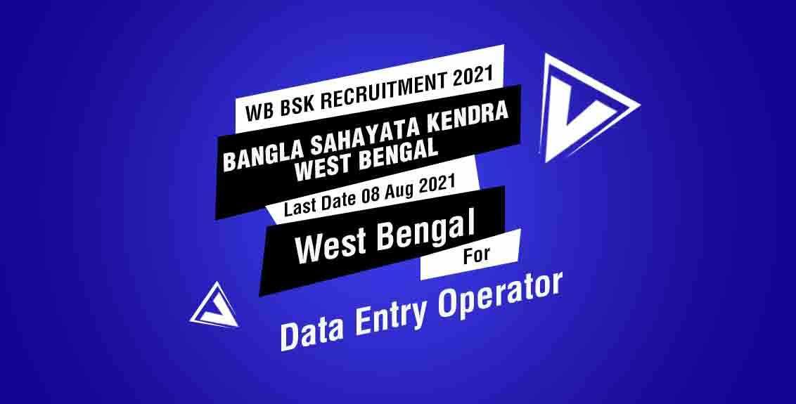 WB BSK Recruitment 2021 Job Listing thumbnail.