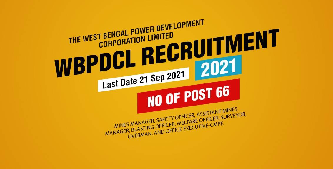 WBPDCL Recruitment 2021 Job Listing thumbnail.