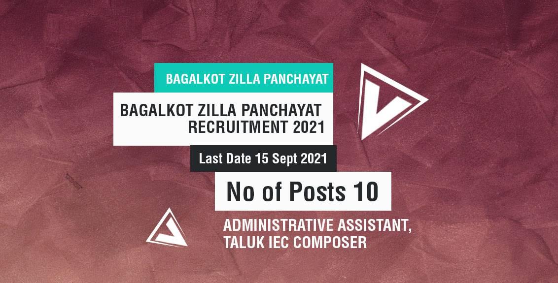 Bagalkot Zilla Panchayat Job Listing thumbnail.