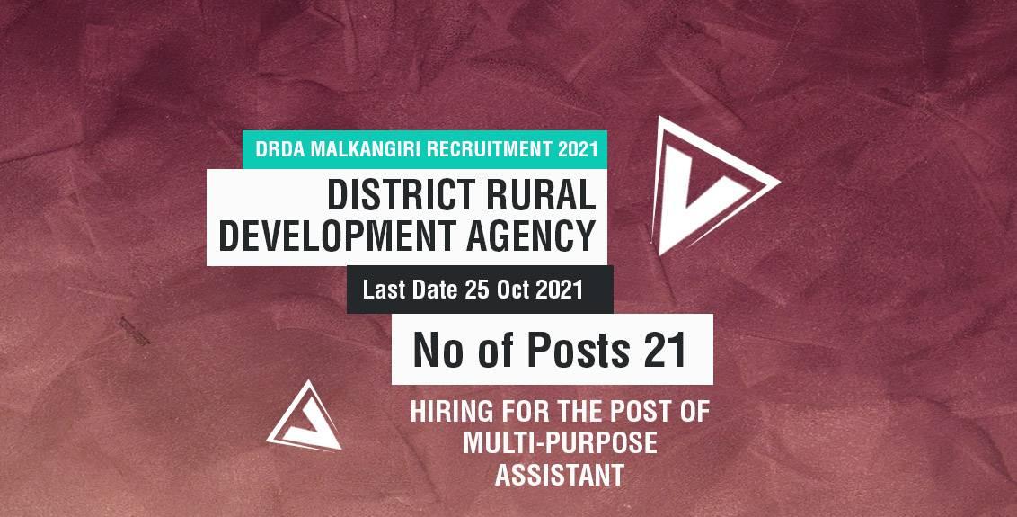 DRDA Malkangiri Recruitment 2021 Job Listing Thumbnail.