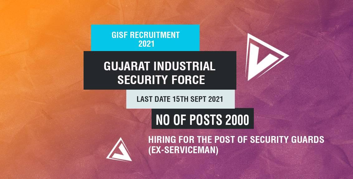 GISF Recruitment 2021 Job Listing thumbnail.