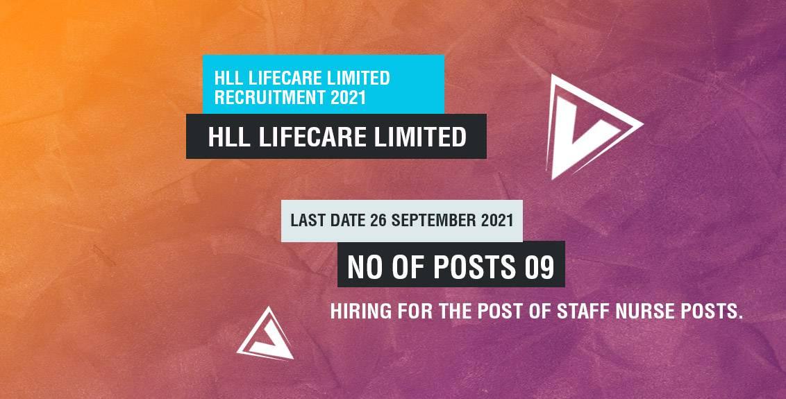 HLL Lifecare Limited Recruitment 2021 Job Listing thumbnail.