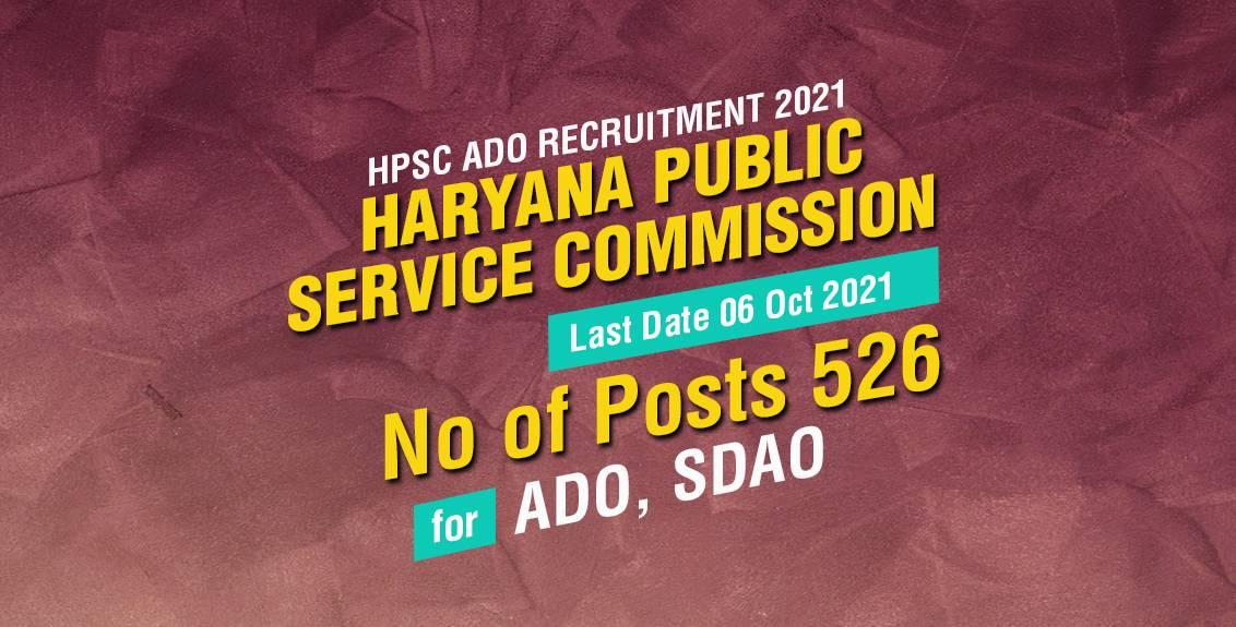 HPSC ADO Recruitment 2021 Job Listing Thumbnail.