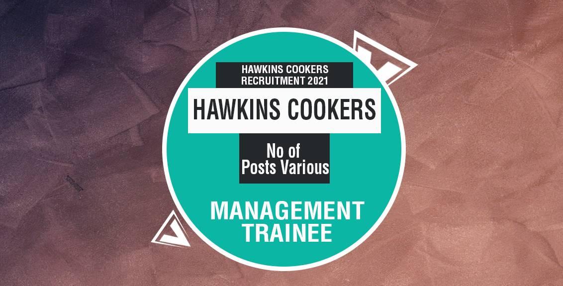 Hawkins Cookers Recruitment 2021 Job Listing thumbnail.