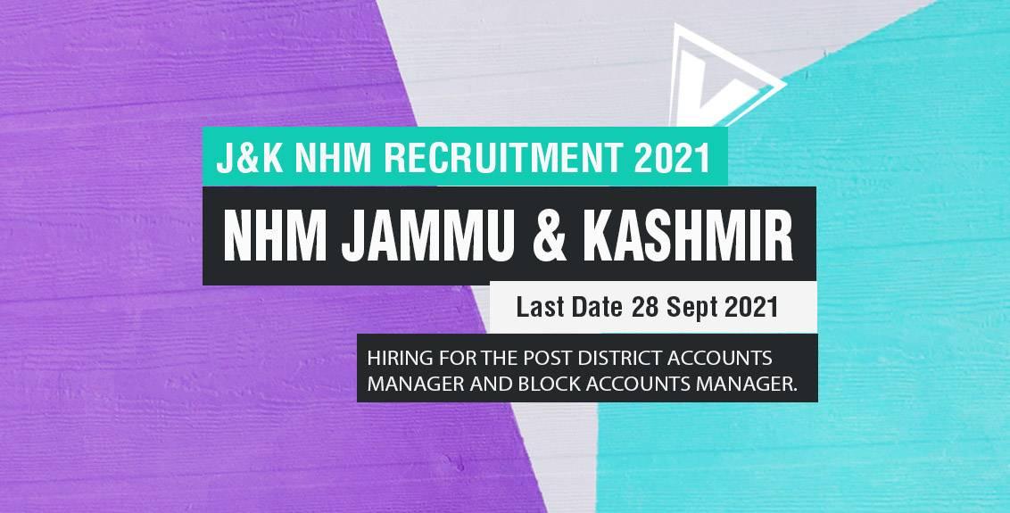 J&K NHM Recruitment 2021 Job Listing Thumbnail.