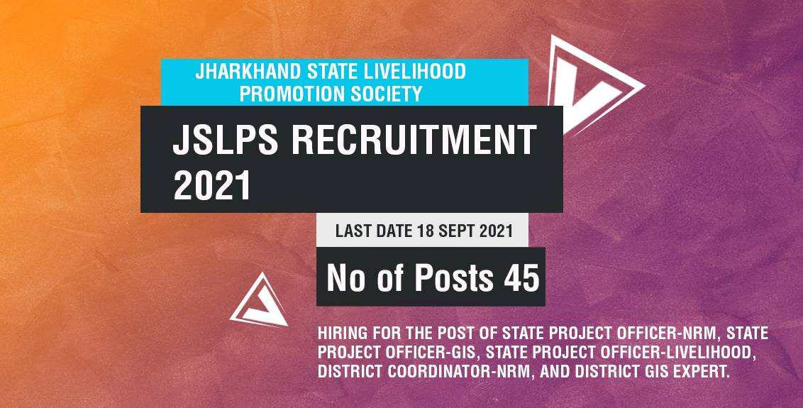 JSLPS Recruitment 2021 Job Listing thumbnail.