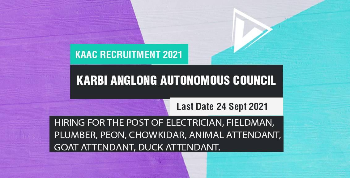 KAAC Recruitment 2021 Job Listing Thumbnail.