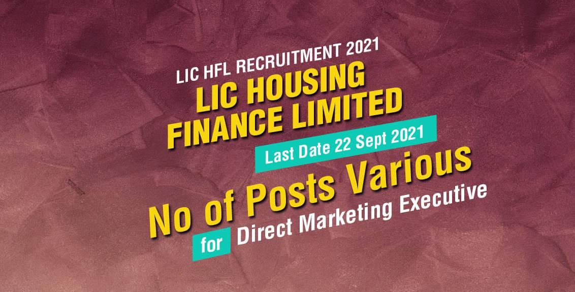 LIC HFL Recruitment 2021 Job Listing thumbnail.
