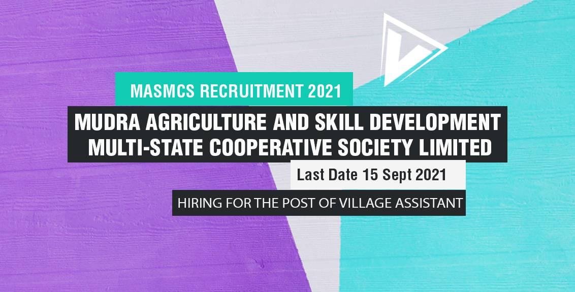 MASMCS Recruitment 2021 Job Listing thumbnail.
