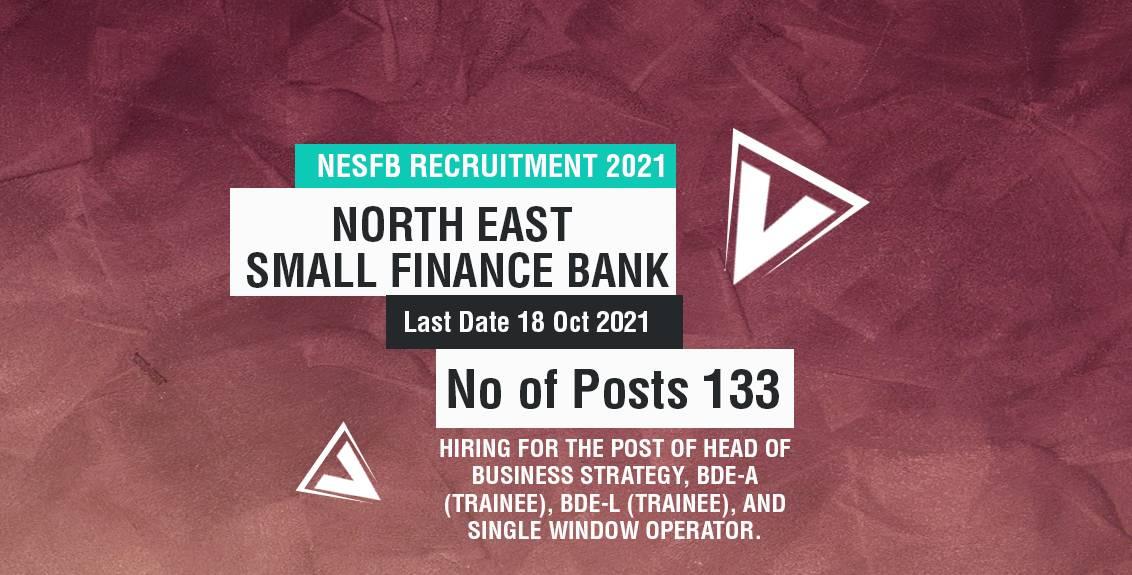 NESFB Recruitment 2021 Job Listing thumbnail.