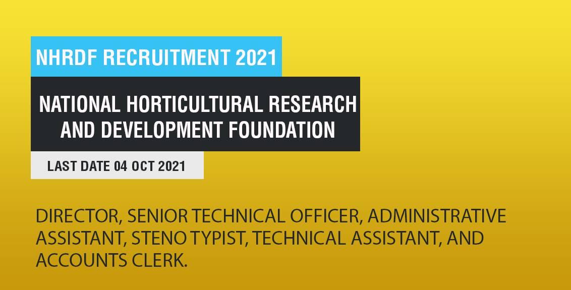 NHRDF Recruitment 2021 Job Listing thumbnail.