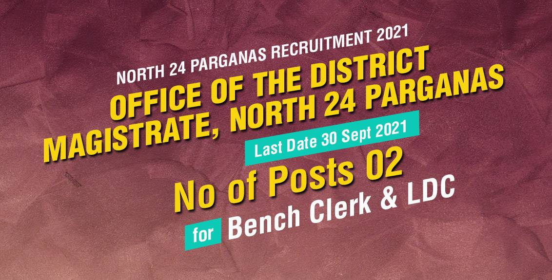 North 24 Parganas Recruitment 2021 Job Listing thumbnail.