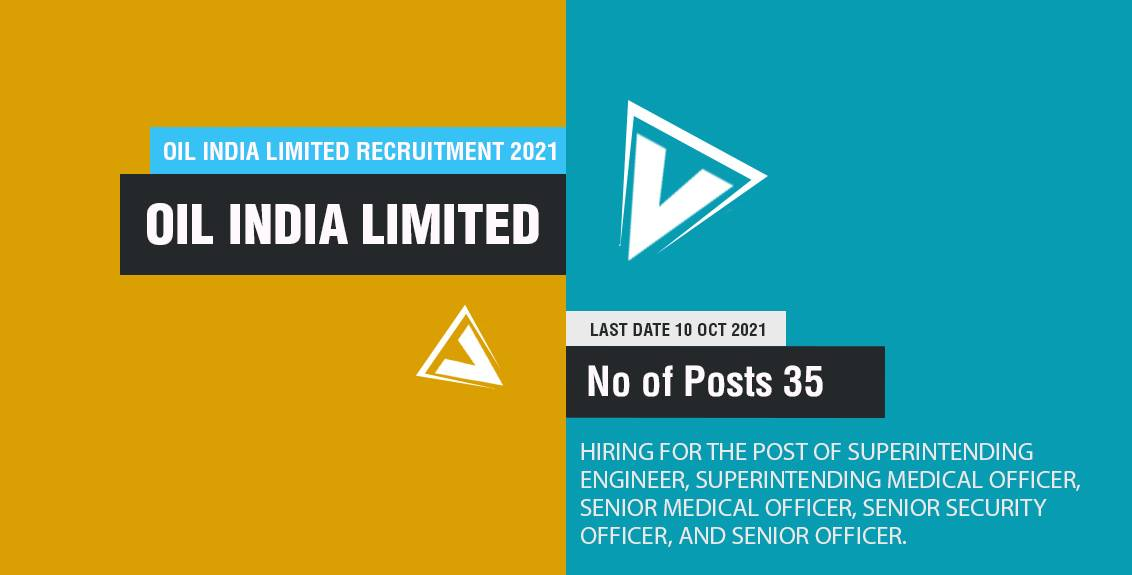 Oil India Limited Recruitment 2021 Job Listing thumbnail.