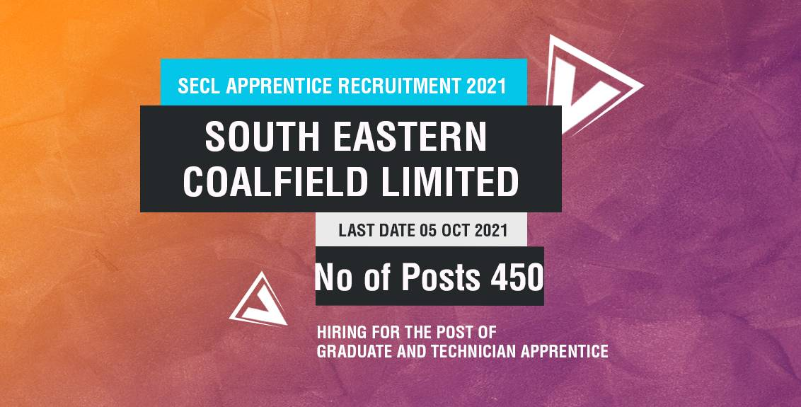 SECL Apprentice Recruitment 2021 for Engineering Students