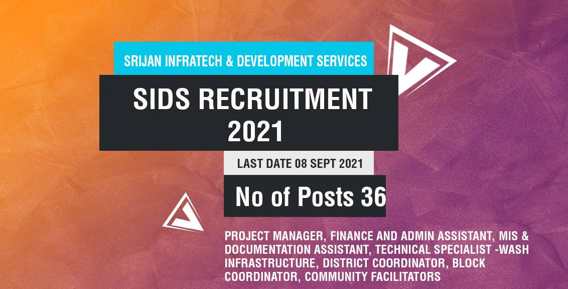 SIDS Recruitment 2021 Job Listing thumbnail.