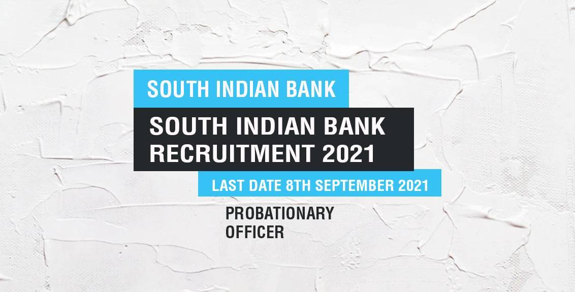 South Indian Bank Job Listing thumbnail.