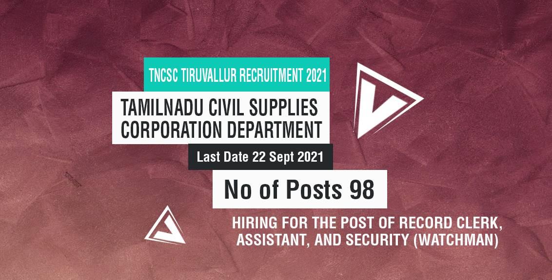 TNCSC Tiruvallur Recruitment 2021 Job Listing thumbnail.