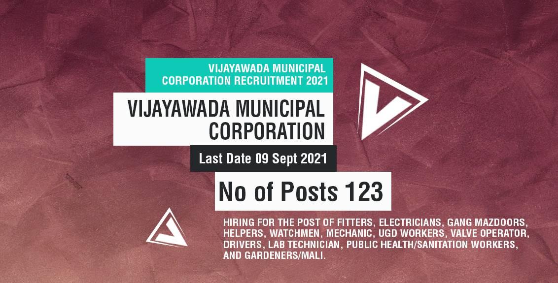 Vijayawada Municipal Corporation Recruitment 2021 Job Listing thumbnail.