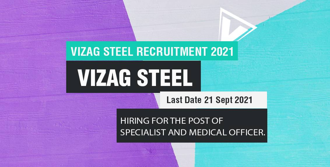 Vizag Steel Recruitment 2021 Job Listing thumbnail.
