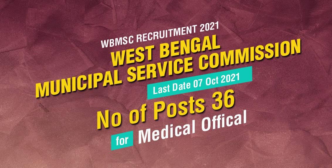 WBMSC Recruitment 2021 Job Listing Thumbnail.