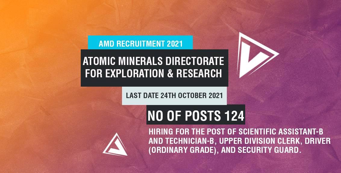 AMD Recruitment 2021 job listing thumbnail.