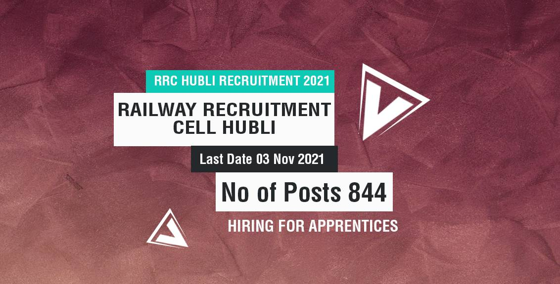 RRC Hubli Recruitment 2021 Job Listing Thumbnail.