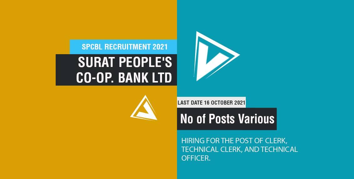 SPCBL Recruitment 2021 job listing thumbnail.