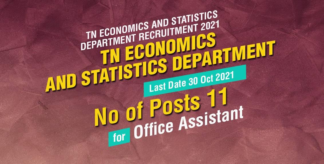 TN Economics and Statistics Department Recruitment 2021 Job Listing thumbnail.
